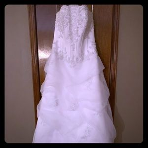 David's Bridal wedding gown!